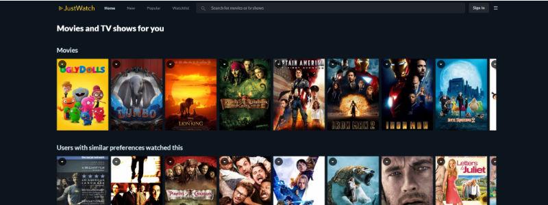Just Watch: Guía Global de Streaming