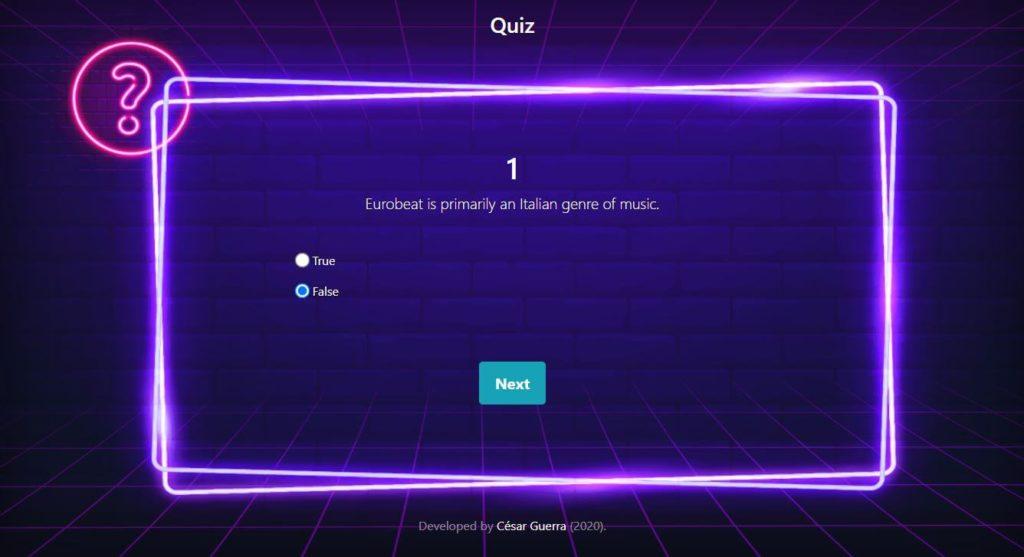 Proyecto Quiz de Master en Coding de Dev.F - Pantalla de Preguntas