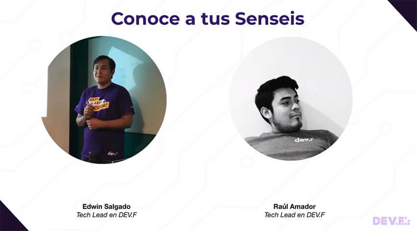 Edwin Salgado & Raúl Amador, Senseis en Dev.F